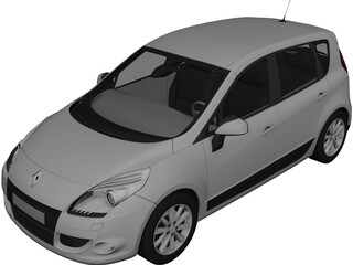 Renault Scenic (2010) 3D Model 3D Preview