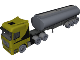 Mercedes-Benz Tank Truck CAD 3D Model