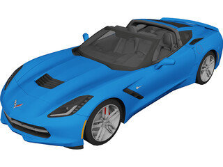 Chevrolet Corvette C7 Stingray Cabrio (2014) 3D Model