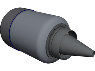 KJ-66 Jet engine CAD 3D Model