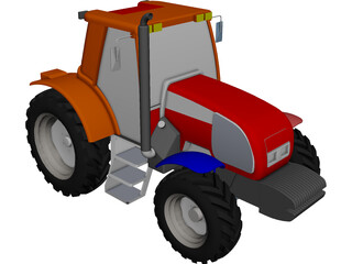 New Holland Tractor CAD 3D Model
