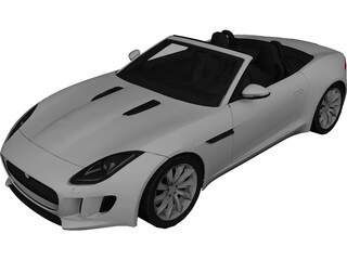 Jaguar F-Type V6 (2014) 3D Model