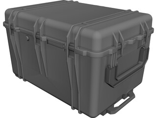 Military Transport Case 30x62x49cm CAD 3D Model