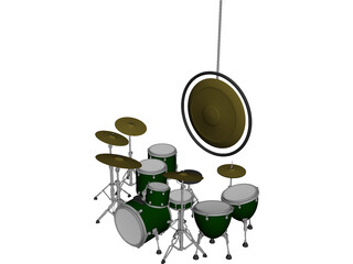 John Bonham Drum Set 3D Model