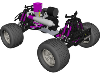 HPI RC Monster Truck Car CAD 3D Model