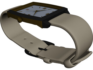 Wrist Watch 3D Model 3D Preview