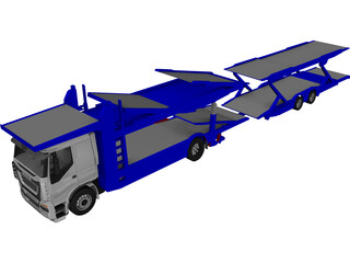 Iveco Stralis Car Carrier 3D Model