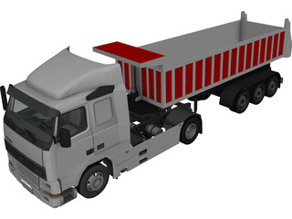 Volvo FH16 Semitrailer Dumper 5 Axle 3D Model 3D Preview