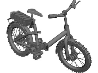 Bicycle Folding CAD 3D Model