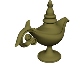 Magic Lamp Genie 3D Model