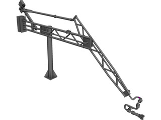 Marine Loading Arm CAD 3D Model