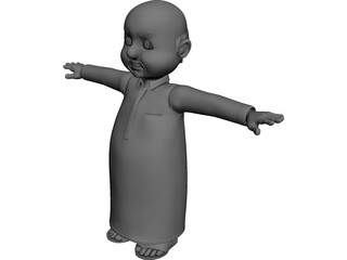 Arab Male Cartoon Character 3D Model 3D Preview