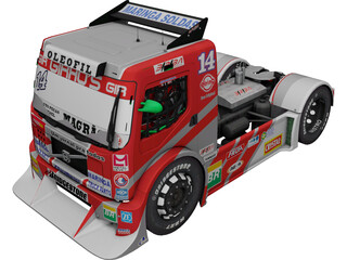 Volvo FH Clay Truck Racing 3D Model