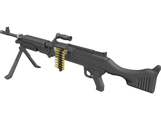 M240 Machinegun 3D Model