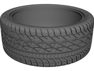 Goodyear Eagle GT 18x8.5 CAD 3D Model