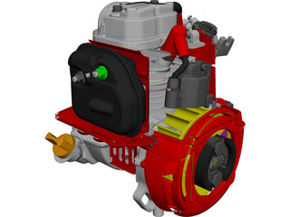 Honda GX25 Engine CAD 3D Model