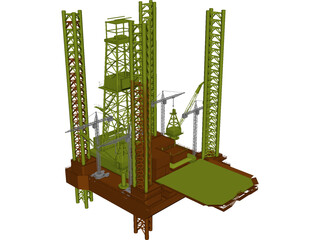 Oil Rig Offshore 3D Model