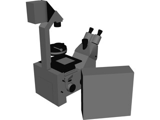 Leica Fluorescence Microscope 3D Model