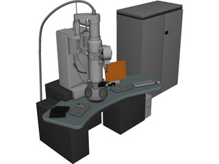 Trasmission Electronic Microscope 3D Model