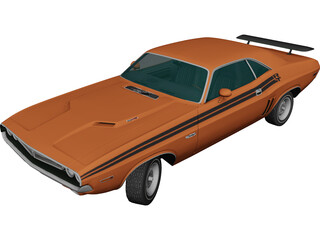 Dodge Challenger RT (1971) 3D Model