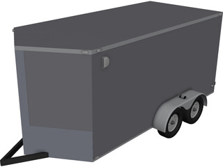 Light Trailer CAD 3D Model