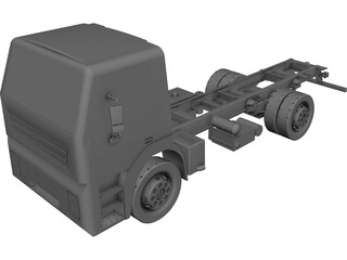 Iveco Light Truck Chassis CAD 3D Model