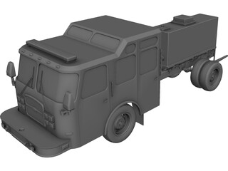 US Fire Truck Chassis CAD 3D Model
