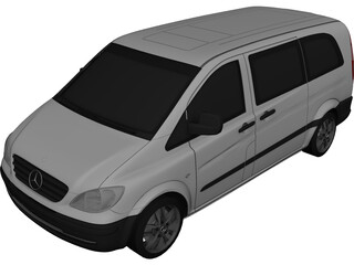 Mercedes-Benz Vito W639 3D Model
