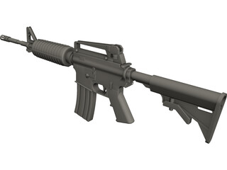 M16 Rifle CAD 3D Model