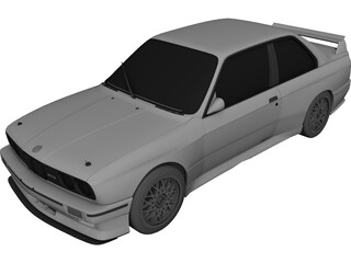 BMW M3 Sport Evo (1990) 3D Model 3D Preview