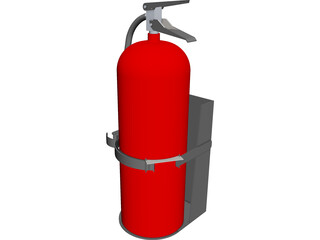Fire Extinguisher 20lb CAD 3D Model