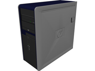 PC HP 7800 CAD 3D Model