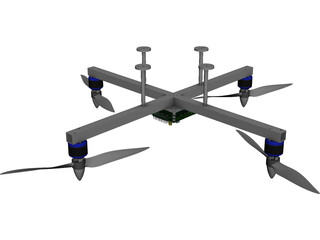 Quadrocopter CAD 3D Model