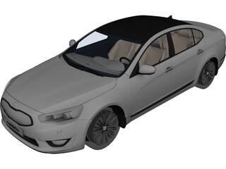 Kia Cadenza 3D Model 3D Preview