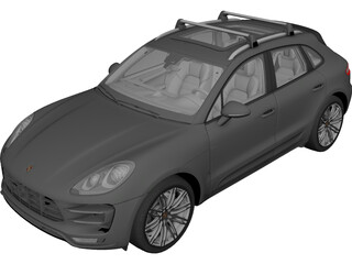 Porsche Macan Turbo (2014) 3D Model
