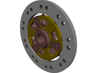 Mechanical Clutch Friction Plate CAD 3D Model