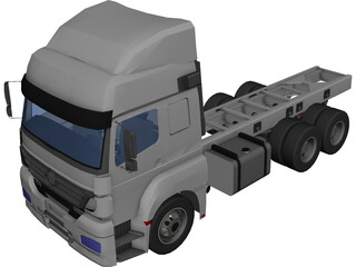 Mercedes-Benz Axor 6X4 Cab 3D Model