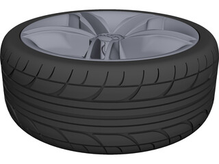 Audi Original Wheel CAD 3D Model