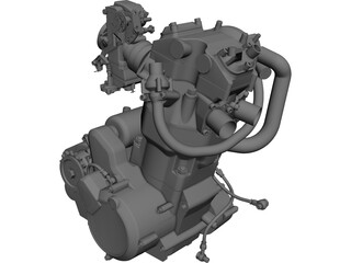 KTM 640 LC4 Engine CAD 3D Model
