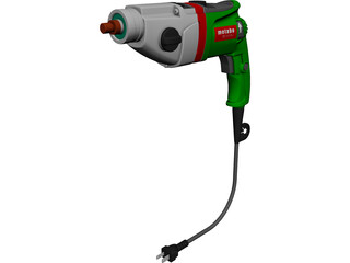Power Drill Metabo SBE 1010 Plus CAD 3D Model