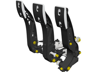 Tilton 900-series Racing Pedal Box CAD 3D Model