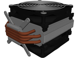 CPU Heatsink CAD 3D Model