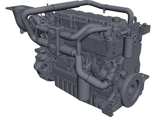 Caterpillar C9 Engine CAD 3D Model