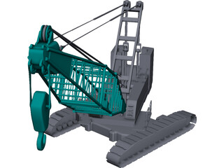 Crawler Crane 3D Model 3D Preview