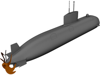 Victoria Class UK Submarine 3D Model