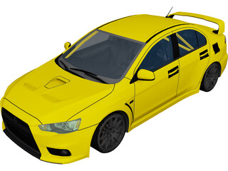 Mitsubishi Lancer Evolution X (2008) 3D Model
