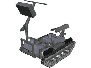 Personal Tracked Vehicle CAD 3D Model
