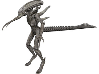 Alien Warrior 3D Model