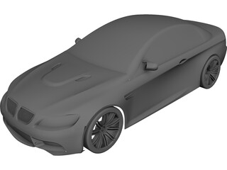 BMW Coupe CAD 3D Model