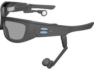 Oakley 3D Cyber Glasses 3D Model